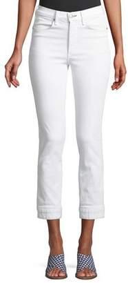 Rag & Bone High-Rise Cuffed Cigarette Jeans
