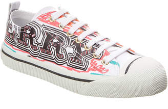 Burberry Doodle Print Coated Cotton Sneaker