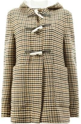 ... Wales Bonner houndstooth duffle coat