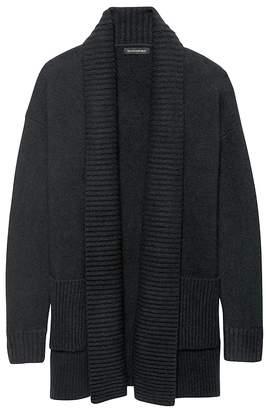 Banana Republic Petite Cotton-Merino Wool Blend Coatigan Sweater