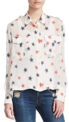 Rag & Bone Pearson Star-Print Blouse