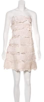 Ralph Rucci Ruffled Lace Dress