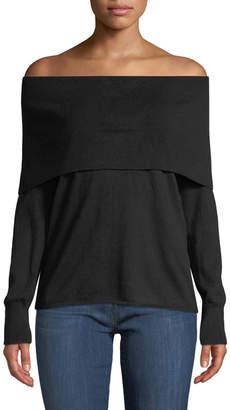 Joie Bade Off-Shoulder Overlay Sweater