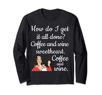 Coffee Wine Long-Sleeve-Tee For Special