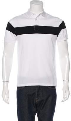 Frame Striped Piqué Polo Shirt