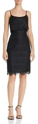 Nanette Lepore nanette Scalloped Lace Overlay Sheath Dress