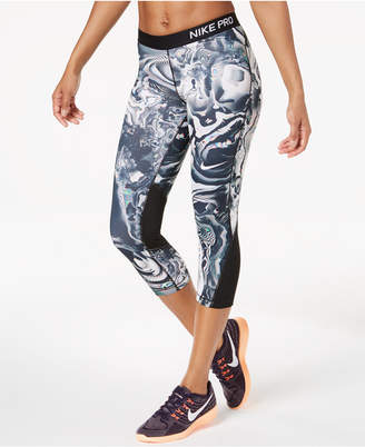 Nike Pro Dri-fit Printed Capri Workout Leggings