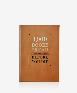 GiGi New York 1,000 Books to Read Before You Die, Cognac Genuine Leather