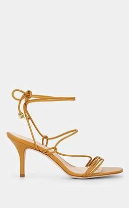 Barneys New York Women's Selva Leather Ankle-Tie Sandals - Mustard