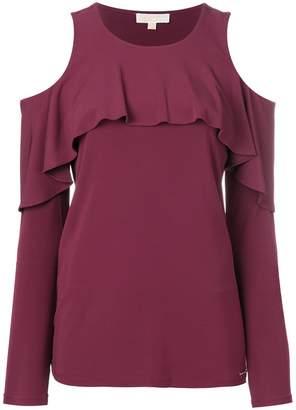 MICHAEL Michael Kors cold shoulder blouse