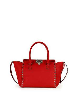 Valentino Rockstud Rolling Small Double-Handle Tote Bag, Red $2,245 thestylecure.com