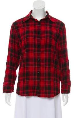 Alice + Olivia Plaid Button-Up Top