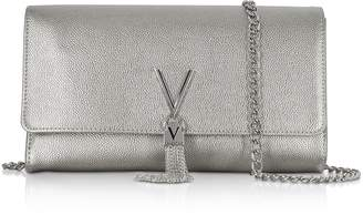 Mario Valentino Valentino by Laminated Lizard Embossed Eco Leather Divina Shoulder Bag