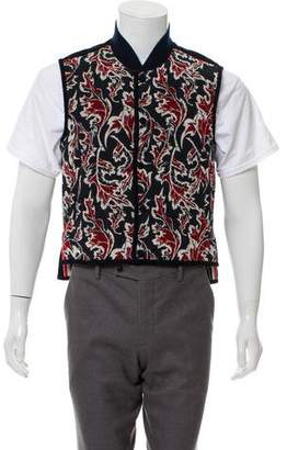Thom Browne Quilted Intarsia Vest