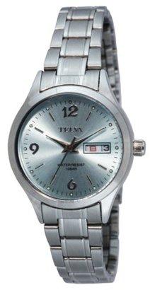 Crepha (クレファー) - [クレファー]CREPHA 婦人用腕時計 アナログ表示 デイデイト 10気圧防水 ライトブルー TEV-1284-LBS レディース