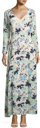 Lucca Couture Long-Sleeve Floral-Print Maxi Wrap Dress, White Pattern $69 thestylecure.com