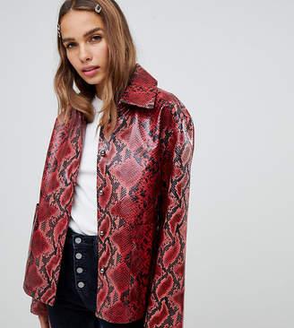 Cli Cli By Clio Peppiatt faux snake jacket