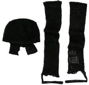 Giorgio Armani Embellished Hat Set