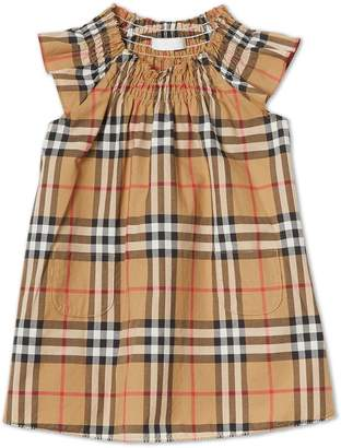 f34ef57cd Burberry Smocked Vintage Check Cotton Dress