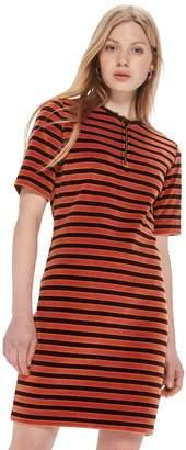 Scotch & Soda Velvet Striped Dress