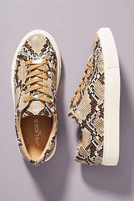 J/Slides Embossed Leather Sneakers