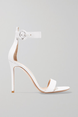 Gianvito Rossi Portofino 105 Leather Sandals - White