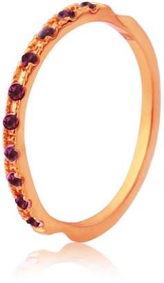 Maiko Nagayama - Thread Rose Gold & Ruby Ring