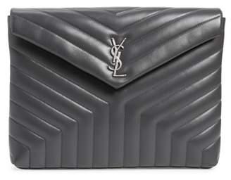 Saint Laurent Large Loulou Matelasse Leather Pouch