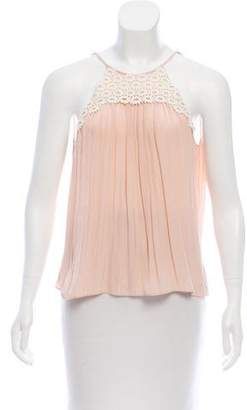 Ramy Brook Sleeveless Lace-Accented Top