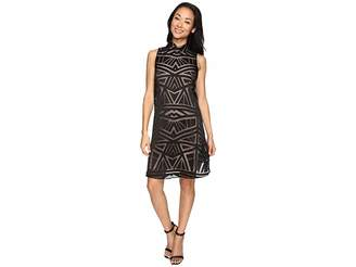 Vince Camuto Roll Collar Float w/ Fitted Under Dress Women's Dress