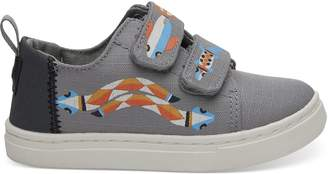 Neutral Grey Critter Tiny TOMS Lenny Sneakers