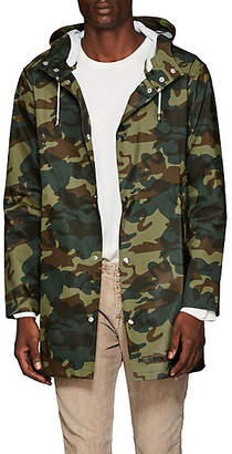 Stutterheim Raincoats Men's Stockholm Camouflage-Print Raincoat - Green