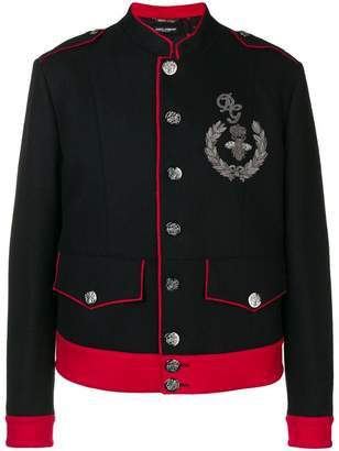 Dolce & Gabbana logo patch jacket