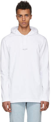 Acne Studios White Lily Hoodie