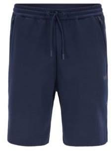 HUGO BOSS Jersey Blend Sweatshort, Slim Fit HSL Tech L Dark Blue