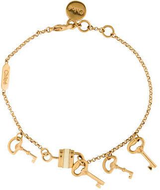 Chloé Chloé Padlock and Key Charm Bracelet