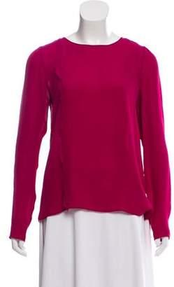 J. Mendel Long Sleeve Silk Top