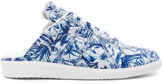 Maison Margiela Printed Leather Sneakers $795 thestylecure.com