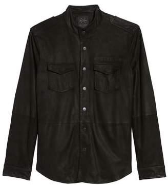 John Varvatos Star USA x Nick Jonas Suede Shirt Jacket