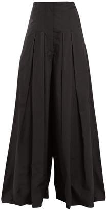Brunello Cucinelli Pleated wide-leg cotton-blend trousers
