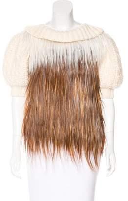 Fendi Goat Hair-Accented Sweater