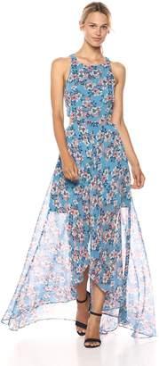 Ali & Jay Women's Bohemian Rhapsody Floral Printed Cut-Out Hi-Lo Maxi Dress