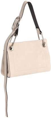 Calvin Klein Collection Belted Suede Shoulder Bag