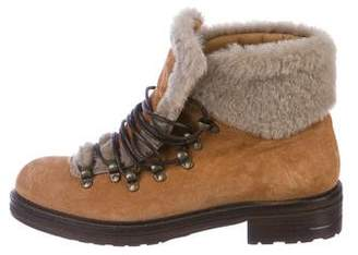 Alberto Fermani Suede Lace-Up Boots