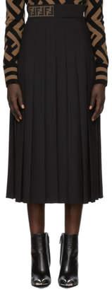 Fendi Black FF Ribbed Band Pencil Skirt