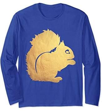 Gold Squirrel Long Sleeve Shirt - Squirrel Shirt