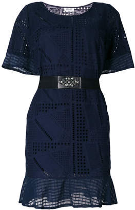 Liu Jo belted perforated dress