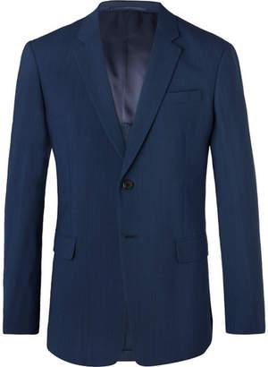 Prada Navy Slim-Fit Mélange Wool-Blend Suit Jacket