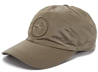 Stone Island Logo Embroidered Nylon Baseball Cap - Mens - Green