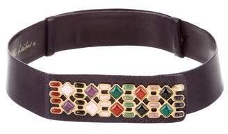 Judith Leiber Lizard Waist Belt